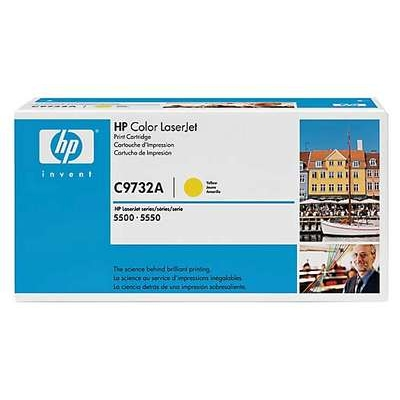 Värikasetti Laser HP C9732A CLJ 5500 keltainen