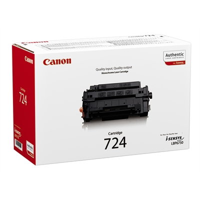 Värikasetti Canon 724 LBP6750DN/LBP6780X musta