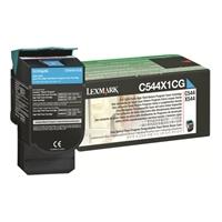 Värikasetti Lexmark C544,X544 C544X1CG sininen