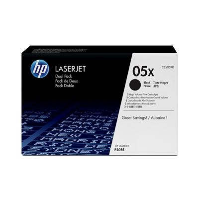 Värikasetti HP 05X CE505XD musta dual pack/2
