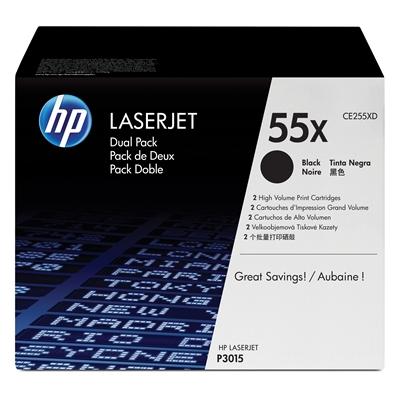 Värikasetti HP 55X CE255XD musta dual pack/2