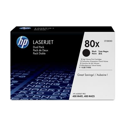 Värikasetti HP 80X CF280XD musta dual pack/2