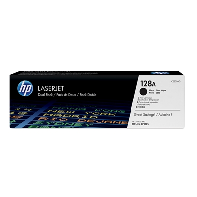 Värikasetti Laser HP 128A CE320AD dual pack musta