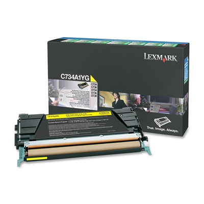 Värikasetti laser Lexmark C734 keltainen