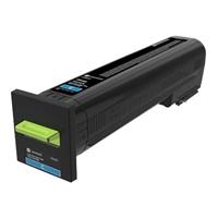 Värikasetti laser Lexmark 72K2XCE CS820 sininen