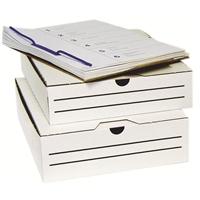 Arkistolaatikko +levy A4/8cm miniaaltopahvi valkoinen