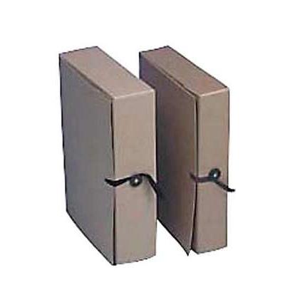 Arkistokotelo A4 nappi/nauha 10cm ruskea