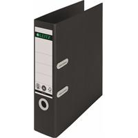 Mappi Leitz Recycle 180° A4 80mm musta - valmistettu kierrätysmateriaalista, täysin kierrätettävä