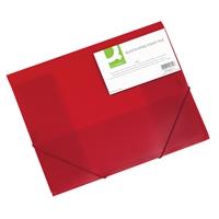 Kulmalukkosalkku Q-Connect PP frost punainen