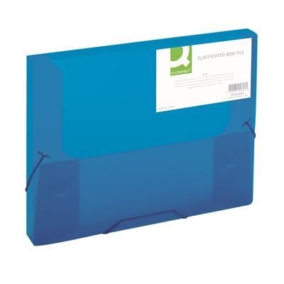 Kulmalukkokotelo Q-Connect PP frost sininen