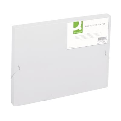 Kulmalukkokotelo Q-Connect PP frost kirkas