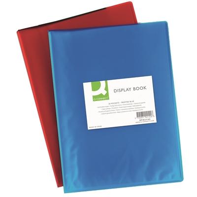 Kokoojakansio Q-Connect A4 20-taskua PP frost sininen