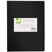 Kokoojakansio Q-Connect A4 10-taskua PP musta