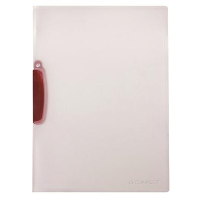 Puristuskansio Q-Connect Colour Clip punainen