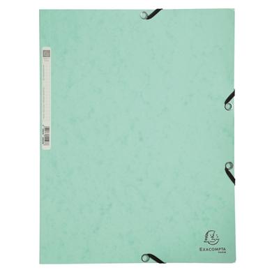 Kulmalukkosalkku A4 kartonki pastelli vihreä - FSC-sertifioitu, selkäetiketillä, mahtuu 250 arkkia