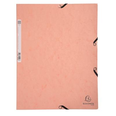 Kulmalukkosalkku A4 kartonki pastelli oranssi - FSC-sertifioitu, selkäetiketillä, mahtuu 250 arkkia