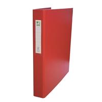 Rengaskansio Q-Connect A4 25mm punainen - kierrätysmateriaalin osuus 75 %