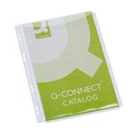 Paljetasku Q-Connect A4 PVC 0.18 /5 kpl ltk