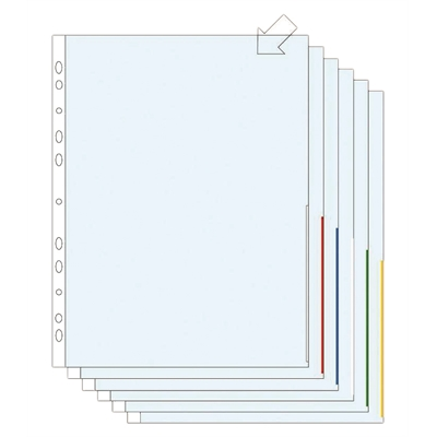 Signaalitasku Plus A4 PP 0.10 sininen/100
