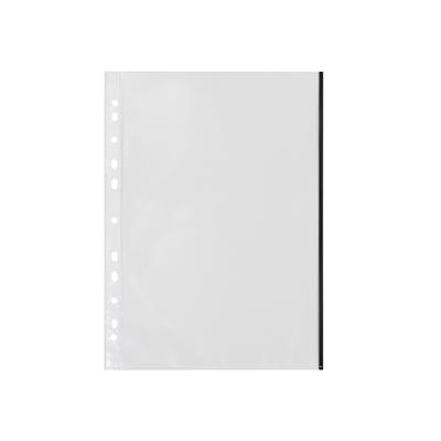 Kansiotasku Q-Connect A4 PP70 LS musta reuna/100