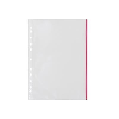 Kansiotasku Q-Connect A4 PP70 LS punainen reuna/100