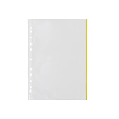 Kansiotasku Q-Connect A4 PP70 LS keltainen reuna/100
