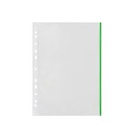 Kansiotasku Q-Connect A4 PP70 LS vihreä reuna/100