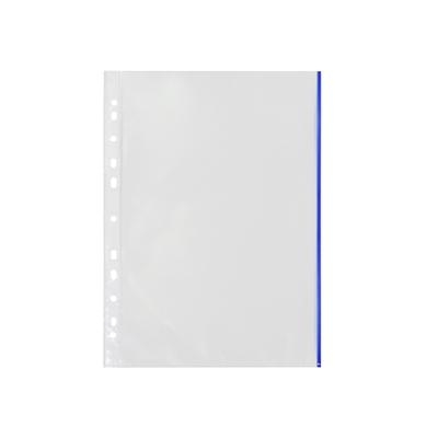 Kansiotasku Q-Connect A4 PP70 LS sininen reuna/10