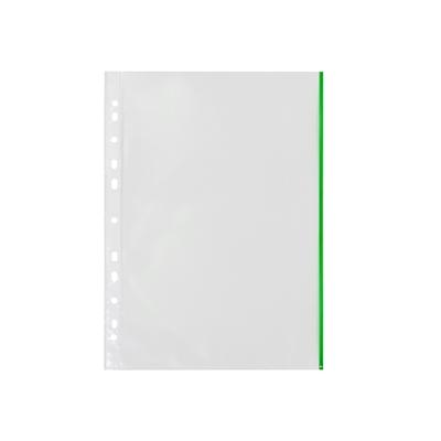 Kansiotasku Q-Connect A4 PP70 LS vihreä reuna/10