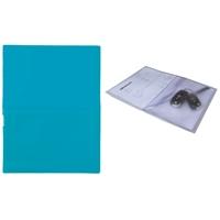 Huoltotasku / työmääräystasku / avaintasku A4 sininen - sis. läpällinen A5-kokoinen avaintasku