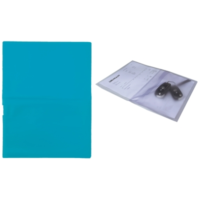 Huoltotasku / työmääräystasku / avaintasku A4 sininen