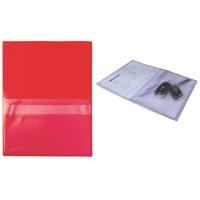 Huoltotasku / työmääräystasku / avaintasku A4 punainen