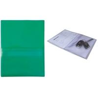 Huoltotasku / työmääräystasku / avaintasku A4 vihreä - sis. läpällinen A5-kokoinen avaintasku