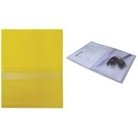 Huoltotasku / työmääräystasku / avaintasku A4 keltainen - sis. läpällinen A5-kokoinen avaintasku