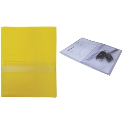 Huoltotasku A4 keltainen