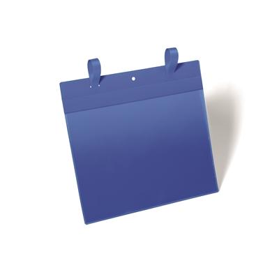 Varastotasku kiinnityslenkkeillä A4 vaaka sininen A4/50