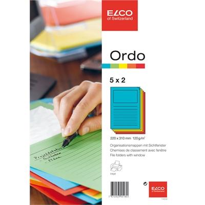 Paperi kansio Elco Ordo Classico 5 värilajitelma /10 kpl