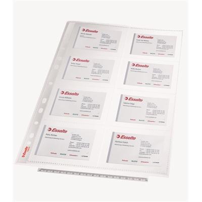 Käyntikorttitasku PP A4 16 kortille/10 kpl pussi