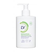 Nestesaippua LV 300 ml pumppu - kotimainen vegaaninen biohajoava nestesaippua herkälle iholle PH 6,0