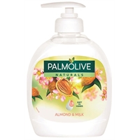 Nestesaippua Palmolive Milk & Almond 300ml - sisältää 100 % luonnollisia mantelin ainesosia