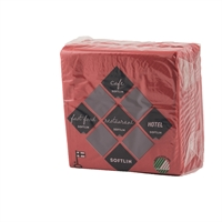 Kahviliina Softlin 24x24cm vadelman punainen/100