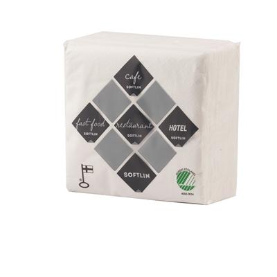 Kahviliina Softlin 24x24cm valkoinen/100