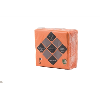 Kahviliina Softlin 24x24cm 2krs oranssi/100