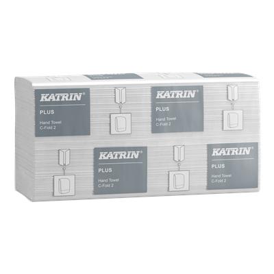 Käsipyyhe Katrin Plus C-Fold 2 valkoinen 24 kpl