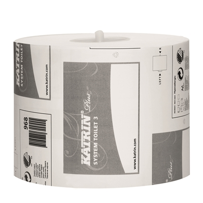 Wc-paperi Katrin Plus System Toilet 3 /36 rll ltk - kotimainen laadukas wc-paperi annostelijoihin
