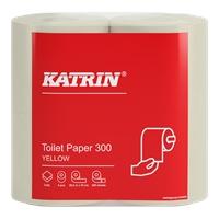 Wc-paperi Katrin Classic 300 keltainen /40 rll - kotimainen laadukas wc-paperi