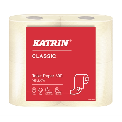 Wc-paperi Katrin Classic Toilet 300 keltainen /40 rll