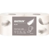 Wc-paperi Katrin Plus Toilet 240 valkoinen /48 rll - kotimainen, laadukas ja pehmeä wc-paperi