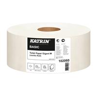 Wc-paperi Katrin Basic Gigant M /6 rll - kotimainen, luonnonvalkoinen, kierrätyskuituinen jättirulla