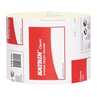 Wc-paperi Katrin Classic System Toilet keltainen/36 rll - kotimainen mikrokuvioitu pehmeä wc-paperi